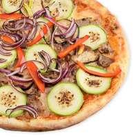Пицца с шашлыком и цукини