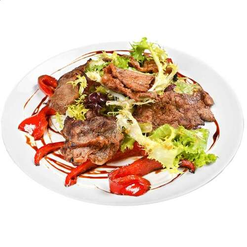 Салат теплый с телятиной и французским соусом