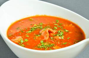 Копченый томатный суп
