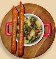 Ньокки с грибами и фасолью с томатными палочками