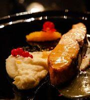 Запечёный лосось с соусом