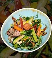 Салат з телятиною на грилі