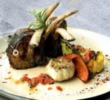 Каре теля з овочами гриль (за 100 г сирого м'яса)