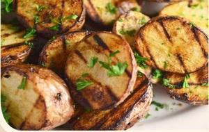 Добавка к дёнеру картофель на мангале