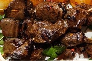 Сердце говяжье на мангале