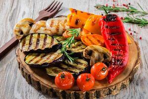 Овочі з мангалу порція 200г