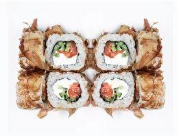 Бонито со свежим лососем