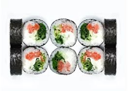 Футомаки со свежим лососем