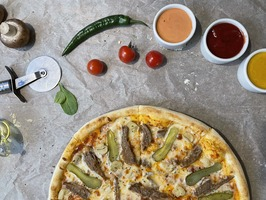 Піца Телятина з маринадами