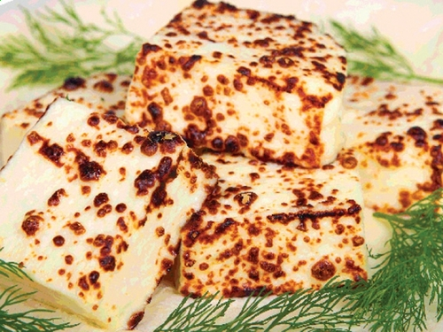 Сыр на мангале