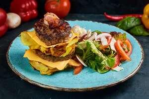 Наш «гамбургер» з зеленим салатом (King size)