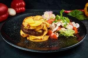 Наш «гамбургер» з зеленим салатом (Regular)