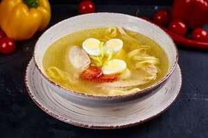 Суп iз перепiлкою та iтальянскою локшиною